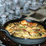 recette Gratin de saumon aux courgettes et oignon rouge