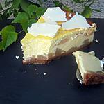 recette Cheesecake poires-chocolat blanc