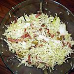 recette Salade de choux aux lardons