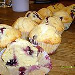 recette Muffins aux chocolat blanc et myrtilles