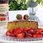 recette Gâteau Ricotta (agrumes) & salade de fraises....