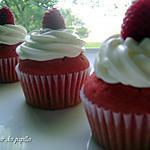 ~Cupcakes Red Velvet glacés au fromage à la crème~