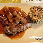 recette Aiguillettes de canard, sauce orange et miel