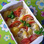 recette Tian de tomates parmentières....