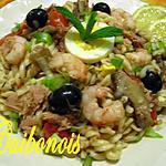 recette Salade d'été : Fusilli au thon.
