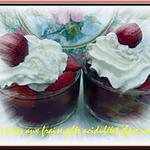 recette verrines aux fraises gelée acidulèe glace vanille
