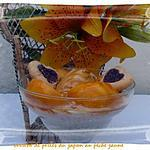 recette verrine de perle du japon au pèche jaune