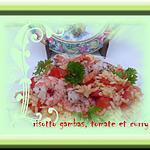 risotto gambas,tomate curry