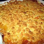 recette Crumble abricots-chocolat blanc