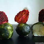 recette Truffes blanches à la fève de tonka et robe de matcha