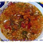 recette potage de poulet aux petits légumes,ses petites pates