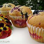 dessert fruits : recette ~Muffins explosions de fruits~