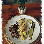 recette omelette chinoise aux crevettes et shiitaké