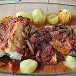 recette Bacalhau no Forno à Portuguesa (Morue au four recette simple)