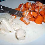 recette poulet crème coco et patates douces sautées