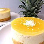recette CHEESECAKE ANANAS
