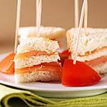 recette Toasts club au saumon