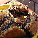 recette Carrés chocolat et flocons d'avoine