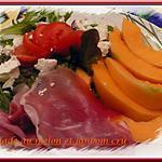 recette salade au melon et jambon