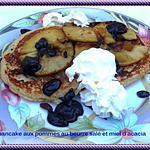recette pancake aux pommes, au beurre salé et miel d'acacia