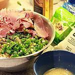 recette Salade aux haricots verts, jambon cru et noix