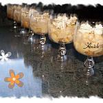recette trifle aux poires, crème patissière et meringue