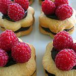 recette Fleurs à la ganache chocolat et framboises