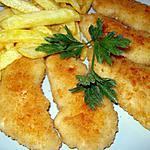 recette Aiguillettes de poulet en panure de parmesan!!!