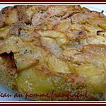 recette gateau au pomme,frangipagne