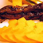 recette Aiguillettes de canard au melon et aux épices (anis étoilé et vanille)