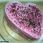recette Coeur à la mousse de framboises