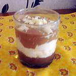 recette VERRINES AUX 3 CHOCOLATS