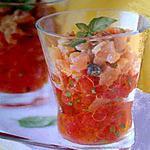 Verrines tartare de thon /tomates