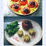 recette tomates farcies sur lit de couscous