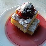 recette Le carré au citron et fraise