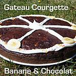 recette Ooo Gateau ultra léger: Chocolat, courgette & banane ooO