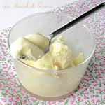recette Glace au Chocolat Blanc (sans oeufs, sans sucres ajoutés)