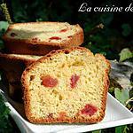 recette Cake aux fraises confites