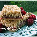 recette Barres à l'avoine et aux framboises de GinPat