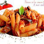 recette Penne à la Sauce Tomate & aux Aubergines
