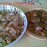 recette PAUPIETTES DE DINDONNEAU/MAFALDINE ARROSEES DE SAUCE TOMATE AUX PETITS LEGUMES