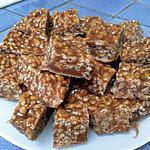 recette carrés croustillants au caramel