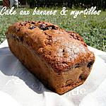 recette Ooo Cake banane / myrtilles ( sans beurre ) ooO