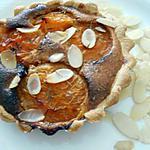 recette Tartelette aux abricots, thym et amandes
