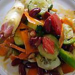 "recette Salade au ""lao gan ma"" (sauce-condiment chinoise)"