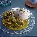 recette Emincé de poulet ou porc au curry.