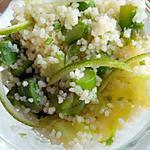 recette Semoule aux asperges vertes et citron vert
