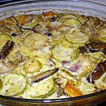 """recette """"Parmigiana tortino"""" aux aubergines et courgettes"""