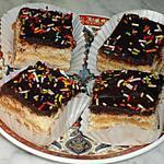 recette Petits carrés  choco-confiture
