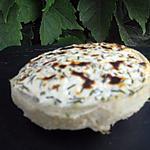 recette Chèvre grillé sur fond d'artichaut